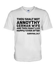 GERMAN WIFE V-Neck T-Shirt thumbnail