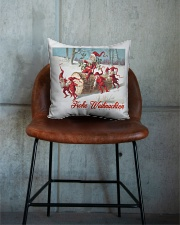 GERMAN MERRY CHRISTMAS  VINTAGE Square Pillowcase aos-pillow-square-front-lifestyle-04
