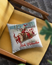 GERMAN MERRY CHRISTMAS  VINTAGE Square Pillowcase aos-pillow-square-front-lifestyle-07