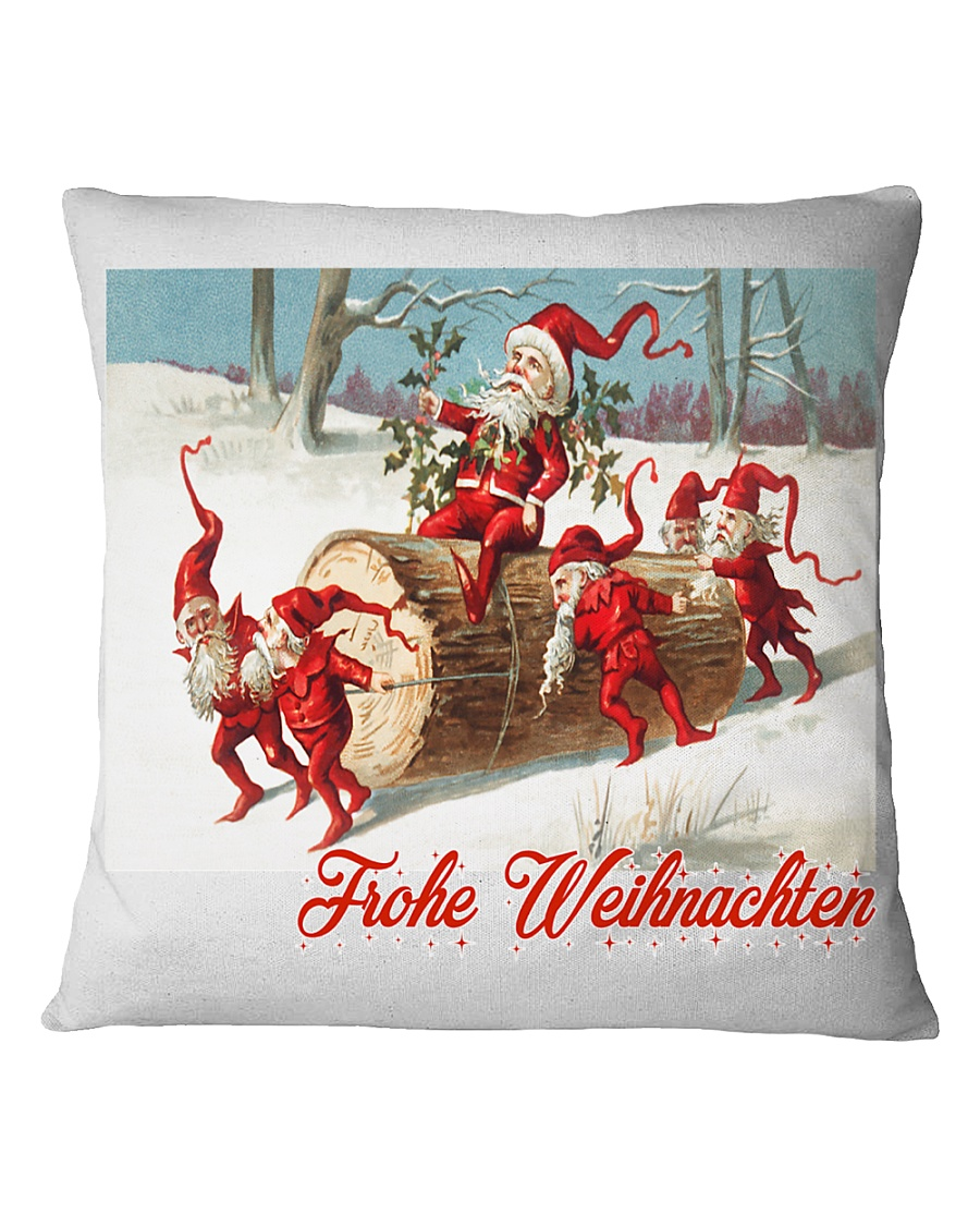 GERMAN MERRY CHRISTMAS  VINTAGE Square Pillowcase