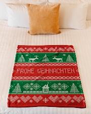 "FROHE WEIHNACHTEN GERMAN CHRISTMAS Small Fleece Blanket - 30"" x 40"" aos-coral-fleece-blanket-30x40-lifestyle-front-04"