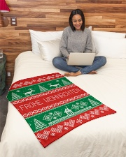 "FROHE WEIHNACHTEN GERMAN CHRISTMAS Small Fleece Blanket - 30"" x 40"" aos-coral-fleece-blanket-30x40-lifestyle-front-08"