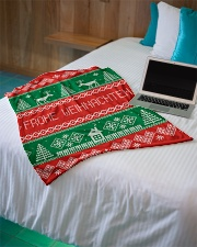 "FROHE WEIHNACHTEN GERMAN CHRISTMAS Small Fleece Blanket - 30"" x 40"" aos-coral-fleece-blanket-30x40-lifestyle-front-10"