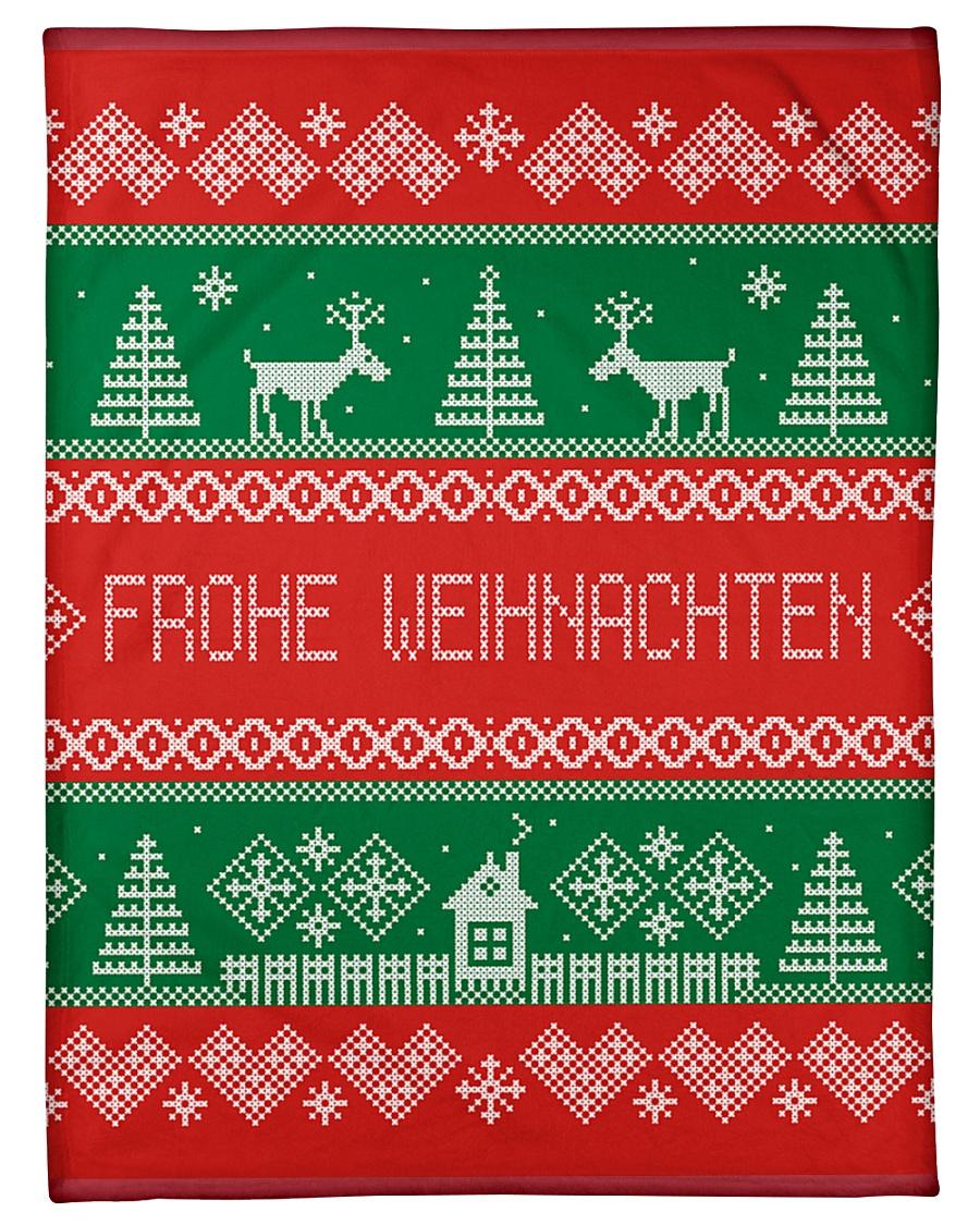"FROHE WEIHNACHTEN GERMAN CHRISTMAS Small Fleece Blanket - 30"" x 40"""
