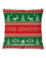 FROHE WEIHNACHTEN GERMAN CHRISTMAS Square Pillowcase thumbnail