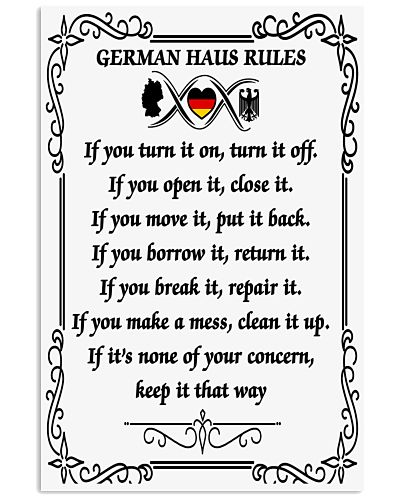 GERMAN HAUS RULES