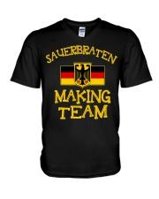 SAUERBRATEN MAKING TEAM V-Neck T-Shirt thumbnail