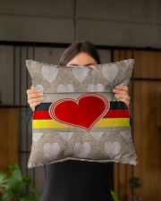 """GERMANY LOVE Indoor Pillow - 16"""" x 16"""" aos-decorative-pillow-lifestyle-front-03"""