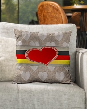 """GERMANY LOVE Indoor Pillow - 16"""" x 16"""" aos-decorative-pillow-lifestyle-front-04"""