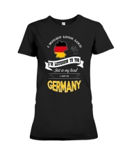 I AM IN GERMANY Premium Fit Ladies Tee thumbnail