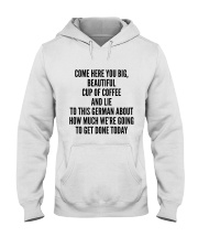 COME HERE YOU BIG BEAUTIFUL CUP OF COFFEE AND LIE Hooded Sweatshirt thumbnail