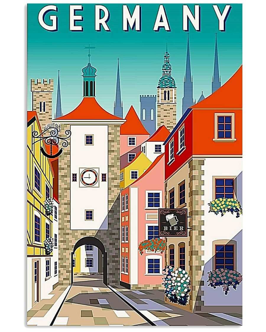GERMANY VINTAGE BIER UND WURST 11x17 Poster