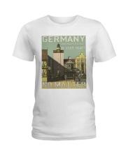 GERMAN VINTAGE POSTER Ladies T-Shirt thumbnail