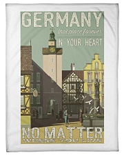 "GERMAN VINTAGE POSTER Fleece Blanket - 30"" x 40""  thumbnail"