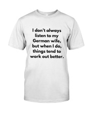 GERMAN WIFE BETTER Premium Fit Mens Tee tile
