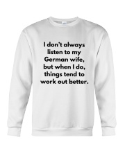GERMAN WIFE BETTER Crewneck Sweatshirt thumbnail