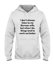 GERMAN WIFE BETTER Hooded Sweatshirt tile