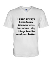 GERMAN WIFE BETTER V-Neck T-Shirt tile