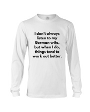 GERMAN WIFE BETTER Long Sleeve Tee thumbnail
