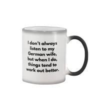 GERMAN WIFE BETTER Color Changing Mug tile