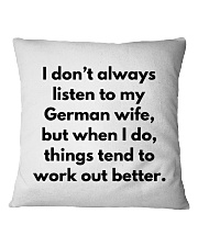 GERMAN WIFE BETTER Square Pillowcase thumbnail