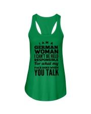 GERMAN WOMAN Ladies Flowy Tank front