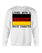 LIVING WITH A GERMAN Crewneck Sweatshirt thumbnail