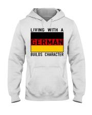 LIVING WITH A GERMAN Hooded Sweatshirt thumbnail