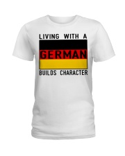 LIVING WITH A GERMAN Ladies T-Shirt thumbnail