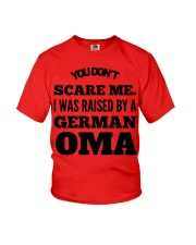 I WAS RAISED BY A GERMAN OMA Youth T-Shirt front