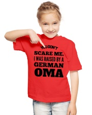 I WAS RAISED BY A GERMAN OMA Youth T-Shirt lifestyle-youth-tshirt-front-2