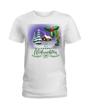 GERMAN MERRY CHRISTMAS  Ladies T-Shirt thumbnail
