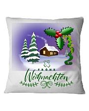 GERMAN MERRY CHRISTMAS  Square Pillowcase thumbnail
