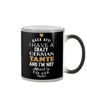 BACK OFF I HAVE A CRAZY GERMAN TANTE Color Changing Mug thumbnail