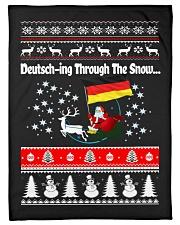 "GERMAN CHRISTMAS SWEATER PATTERN FUNNY Small Fleece Blanket - 30"" x 40"" thumbnail"