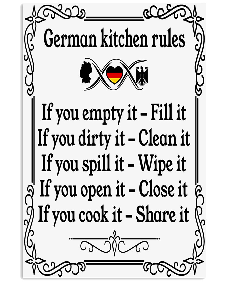 GERMAN KITCHEN RULES 11x17 Poster
