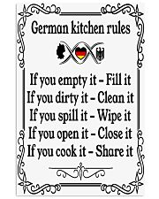 GERMAN KITCHEN RULES 11x17 Poster front