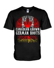 CANADIAN GROWN GERMAN ROOTS V-Neck T-Shirt thumbnail