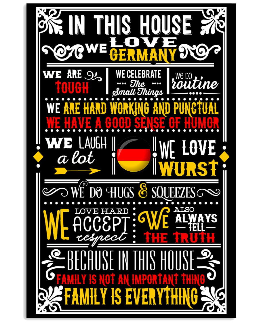 GERMAN HOUSE 24x36 Poster