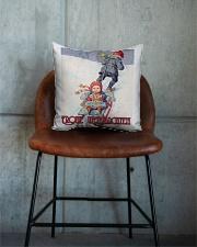 GERMAN MERRY CHRISTMAS Square Pillowcase aos-pillow-square-front-lifestyle-04