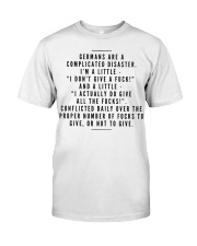 GERMANS ARE A COMPLICATED DISASTER Classic T-Shirt thumbnail