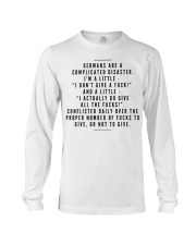 GERMANS ARE A COMPLICATED DISASTER Long Sleeve Tee thumbnail