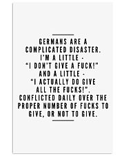 GERMANS ARE A COMPLICATED DISASTER 11x17 Poster thumbnail