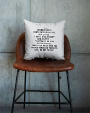 GERMANS ARE A COMPLICATED DISASTER Square Pillowcase aos-pillow-square-front-lifestyle-04