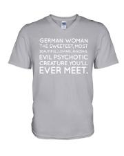 GERMAN WOMAN V-Neck T-Shirt thumbnail