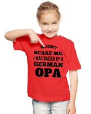 I WAS RAISED BY A GERMAN OPA Youth T-Shirt lifestyle-youth-tshirt-front-2