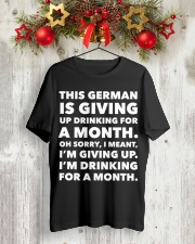 THIS GERMAN IS GIVING UP DRINKING FOR A MONTH  Classic T-Shirt lifestyle-holiday-crewneck-front-2