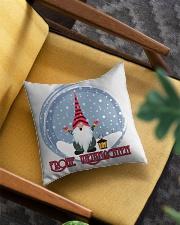 GERMAN MERRY CHRISTMAS Square Pillowcase aos-pillow-square-front-lifestyle-07