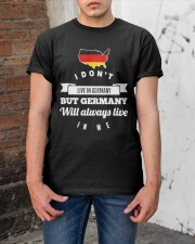 I DON'T LIVE IN GERMANY Classic T-Shirt apparel-classic-tshirt-lifestyle-31