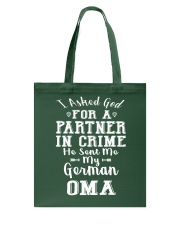 OMA FUNNY PARTNER IN CRIME Tote Bag thumbnail